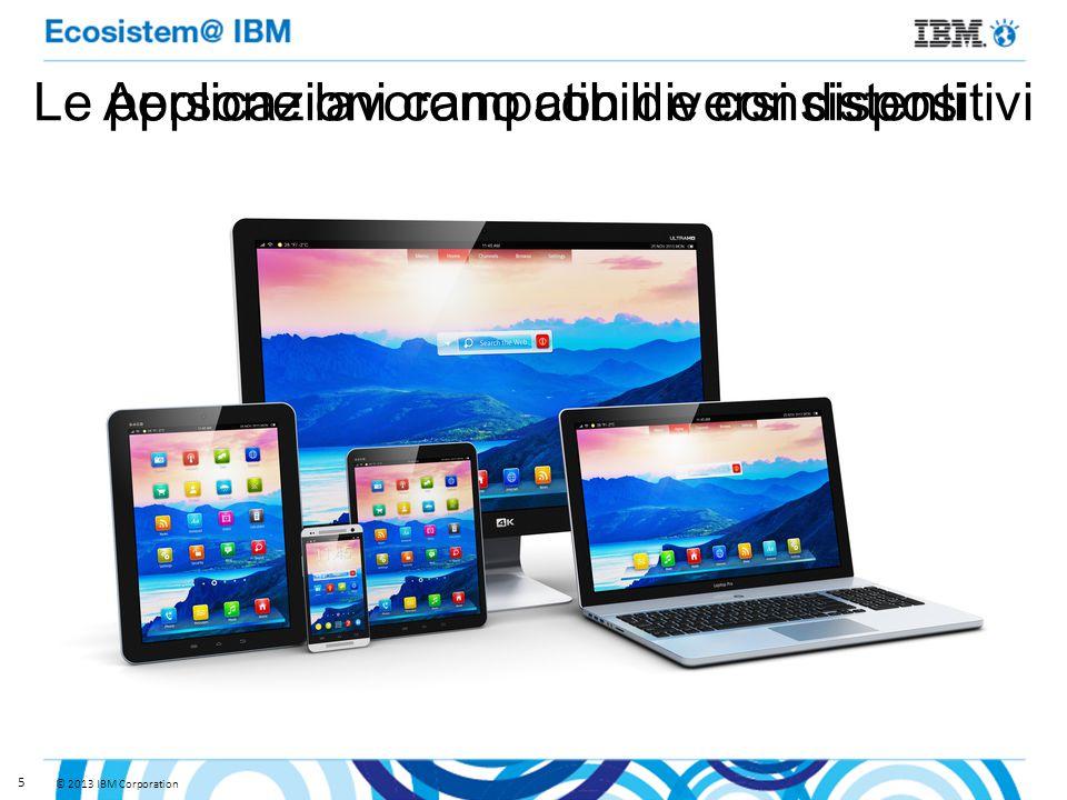© 2013 IBM Corporation 5 Le persone lavorano con diversi dispositiviApplicazioni compatibili e consistenti