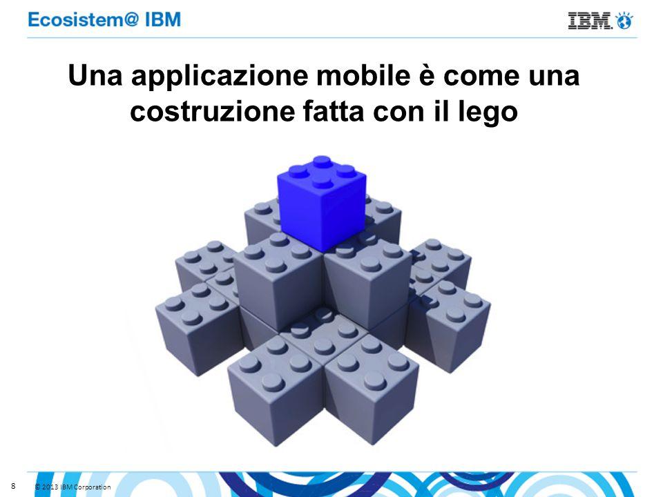© 2013 IBM Corporation 8 Una applicazione mobile è come una costruzione fatta con il lego