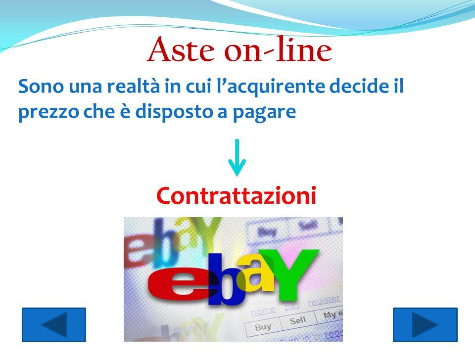 Aste on-line Sono una realtà in cui l'acquirente decide il prezzo che è disposto a pagare Contrattazioni