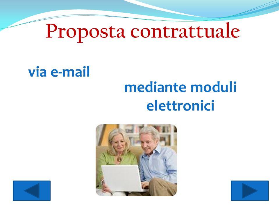 via e-mail mediante moduli elettronici Proposta contrattuale