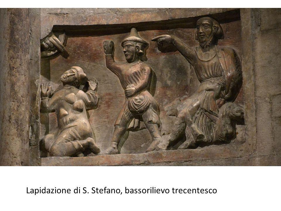 Lapidazione di S. Stefano, bassorilievo trecentesco