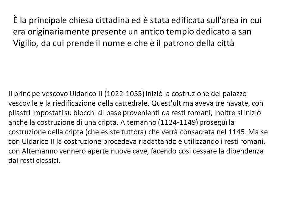 Le colonne annodate del Duomo di Trento Ce ne sono più di una, in particolare una presenta una doppia annodatura.