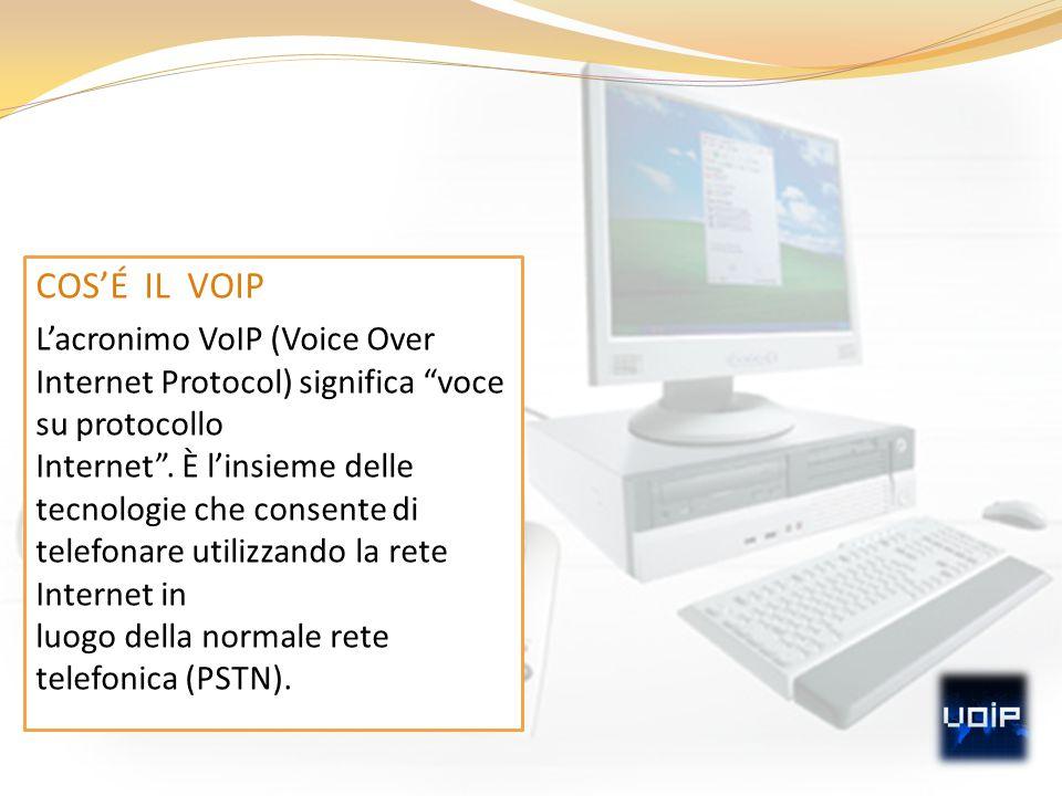 """COS'É IL VOIP L'acronimo VoIP (Voice Over Internet Protocol) significa """"voce su protocollo Internet"""". È l'insieme delle tecnologie che consente di tel"""