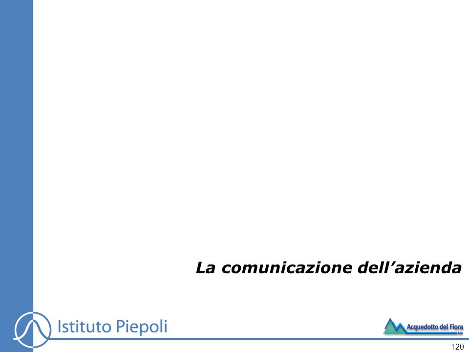 La comunicazione dell'azienda 120
