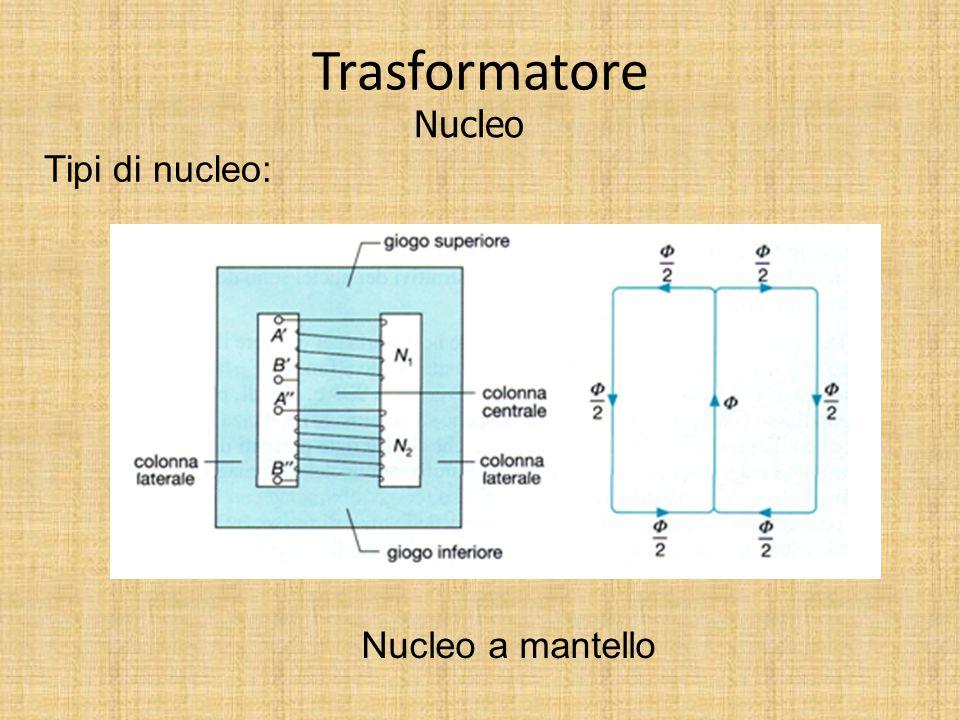 Trasformatore Nucleo Tipi di nucleo: Nucleo trifase a colonne