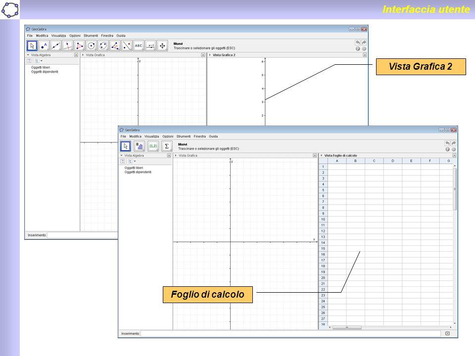 Interfaccia utente Vista Grafica 2 Foglio di calcolo