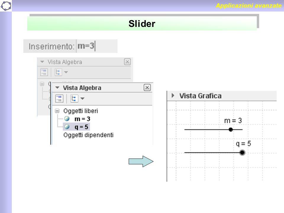 Applicazioni avanzate Slider