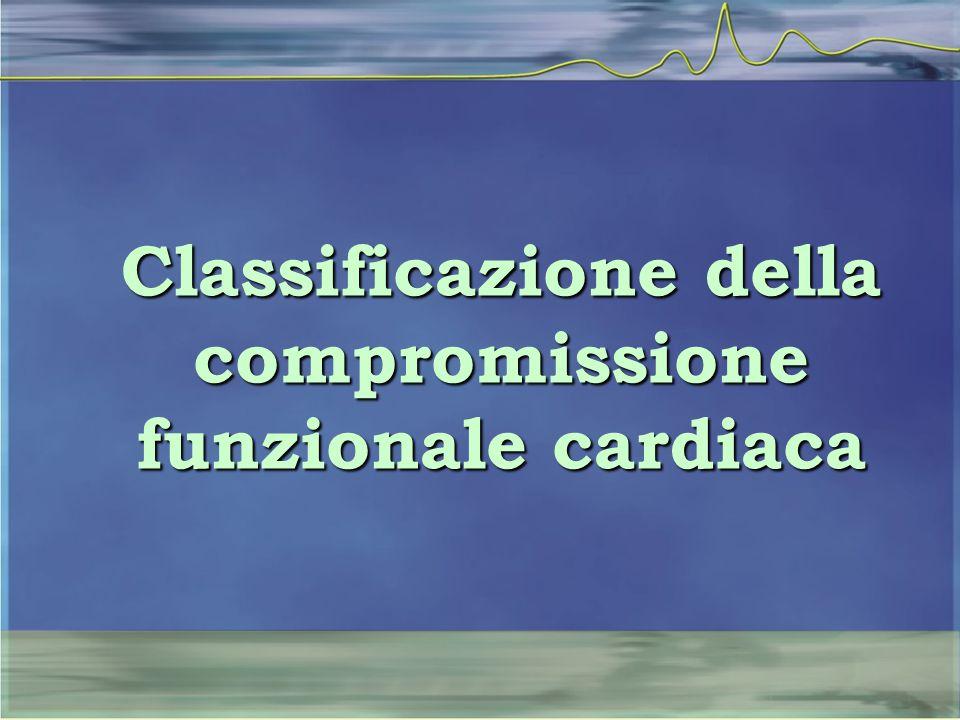Sono state proposte ed utilizzate a lungo varie classificazioni allo scopo di categorizzare in modo sistematico e riproducibile l'entità della compromissione funzionale dovuta alla presenza di cardiopatie
