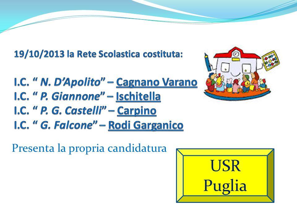 Presenta la propria candidatura USR Puglia