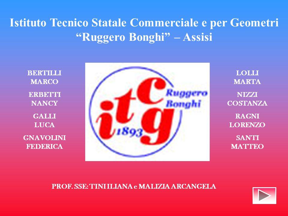 Istituto Tecnico Statale Commerciale e per Geometri Ruggero Bonghi – Assisi BERTILLI MARCO ERBETTI NANCY GALLI LUCA GNAVOLINI FEDERICA LOLLI MARTA NIZZI COSTANZA RAGNI LORENZO SANTI MATTEO PROF.