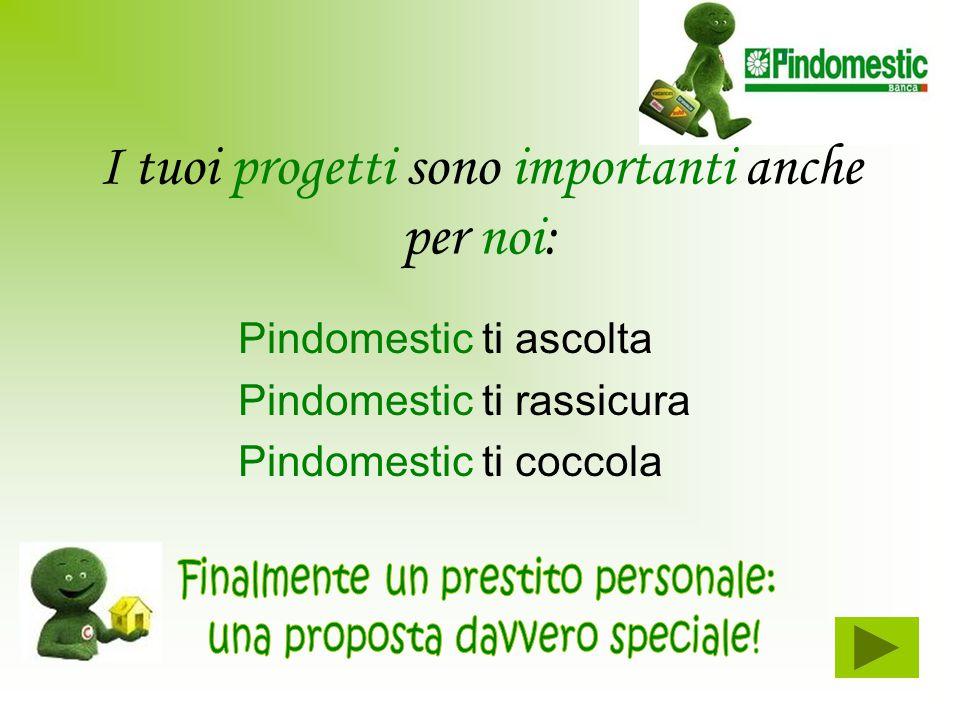 I tuoi progetti sono importanti anche per noi: Pindomestic ti ascolta Pindomestic ti rassicura Pindomestic ti coccola