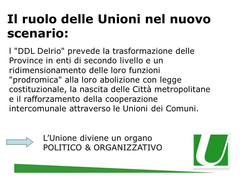 Il ruolo delle Unioni nel nuovo scenario: l