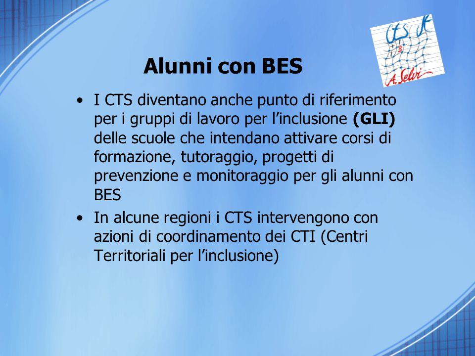 I CTS diventano anche punto di riferimento per i gruppi di lavoro per l'inclusione (GLI) delle scuole che intendano attivare corsi di formazione, tuto