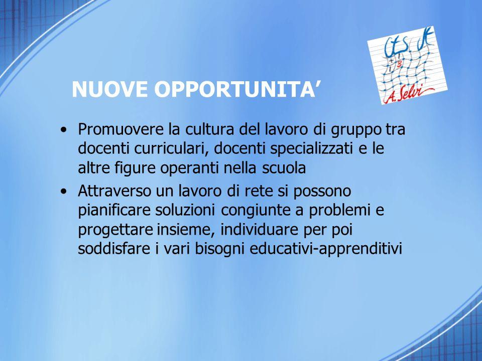 Promuovere la cultura del lavoro di gruppo tra docenti curriculari, docenti specializzati e le altre figure operanti nella scuola Attraverso un lavoro