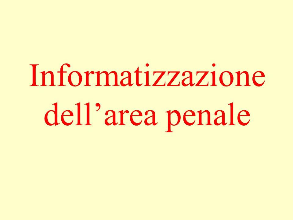 Informatizzazione dell'area penale