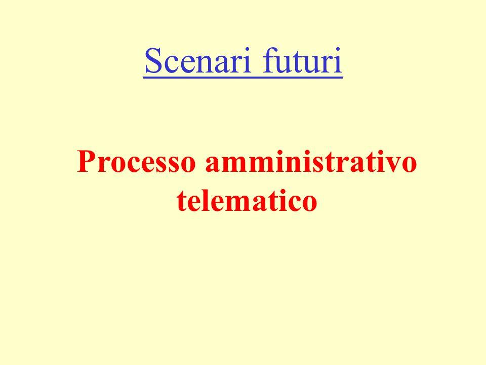 Scenari futuri Processo amministrativo telematico