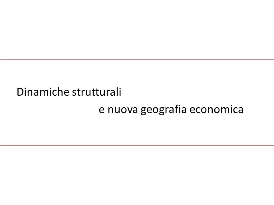 Dinamiche strutturali e nuova geografia economica