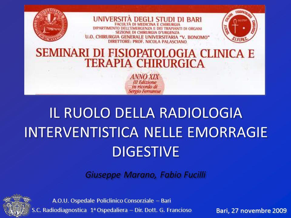 …nessun aspetto della radiologia vascolare ed interventistica è allo stesso tempo così frustrante e gratificante come la diagnosi e il trattamento di sanguinamenti gastro-intestinali… W.