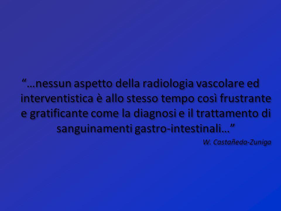 """""""…nessun aspetto della radiologia vascolare ed interventistica è allo stesso tempo così frustrante e gratificante come la diagnosi e il trattamento di"""
