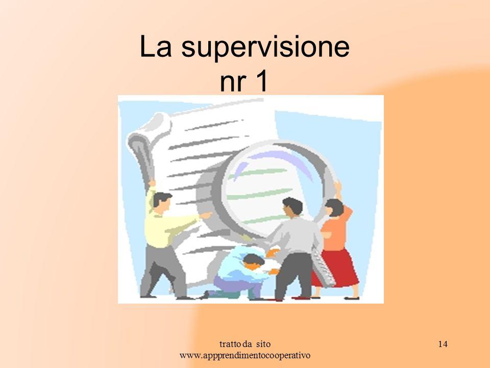 La supervisione nr 1 14tratto da sito www.appprendimentocooperativo