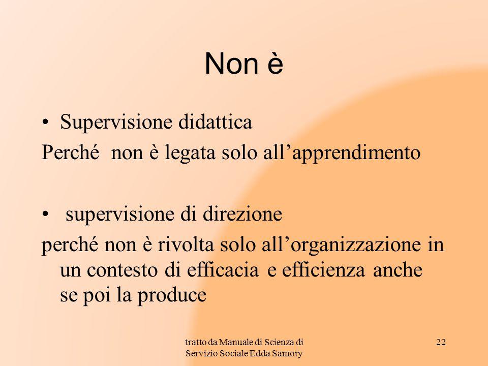 Non è Supervisione didattica Perché non è legata solo all'apprendimento supervisione di direzione perché non è rivolta solo all'organizzazione in un c