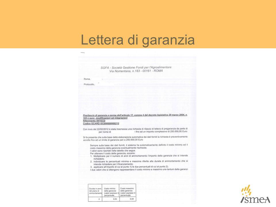 Lettera di garanzia