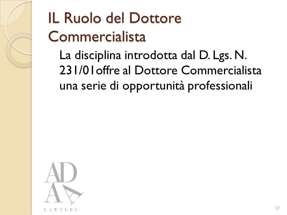 IL Ruolo del Dottore Commercialista La disciplina introdotta dal D.