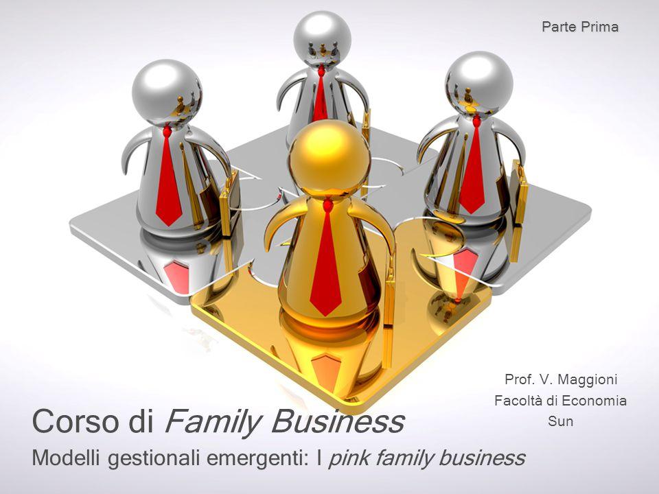 Modelli gestionali emergenti: I pink family business Corso di Family Business Prof. V. Maggioni Facoltà di Economia Sun Parte Prima