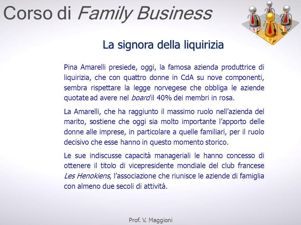 Pina Amarelli presiede, oggi, la famosa azienda produttrice di liquirizia, che con quattro donne in CdA su nove componenti, sembra rispettare la legge norvegese che obbliga le aziende quotate ad avere nel board il 40% dei membri in rosa.