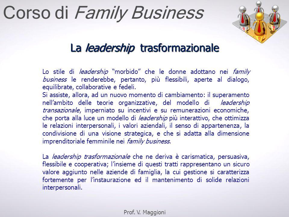 Lo stile di leadership morbido che le donne adottano nei family business le renderebbe, pertanto, più flessibili, aperte al dialogo, equilibrate, collaborative e fedeli.