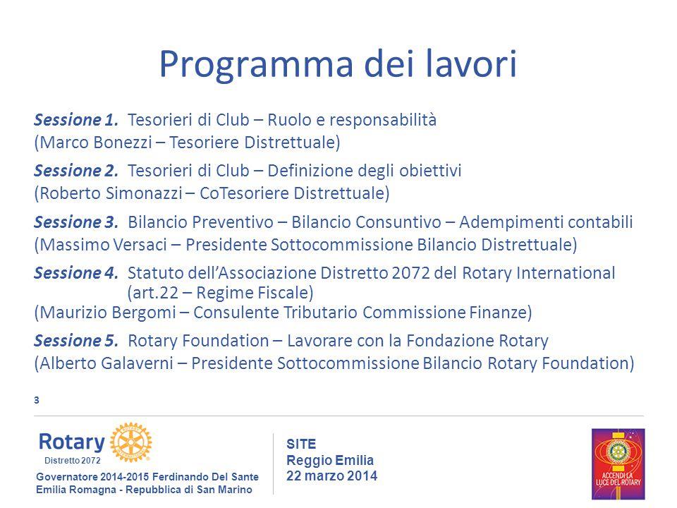 3 SITE Reggio Emilia 22 marzo 2014 Programma dei lavori Sessione 1.