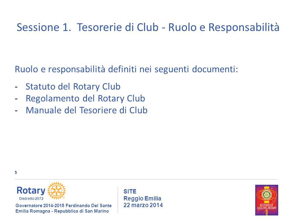 5 SITE Reggio Emilia 22 marzo 2014 Sessione 1.