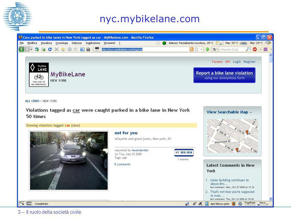 nyc.mybikelane.com 3 – Il ruolo della società civile