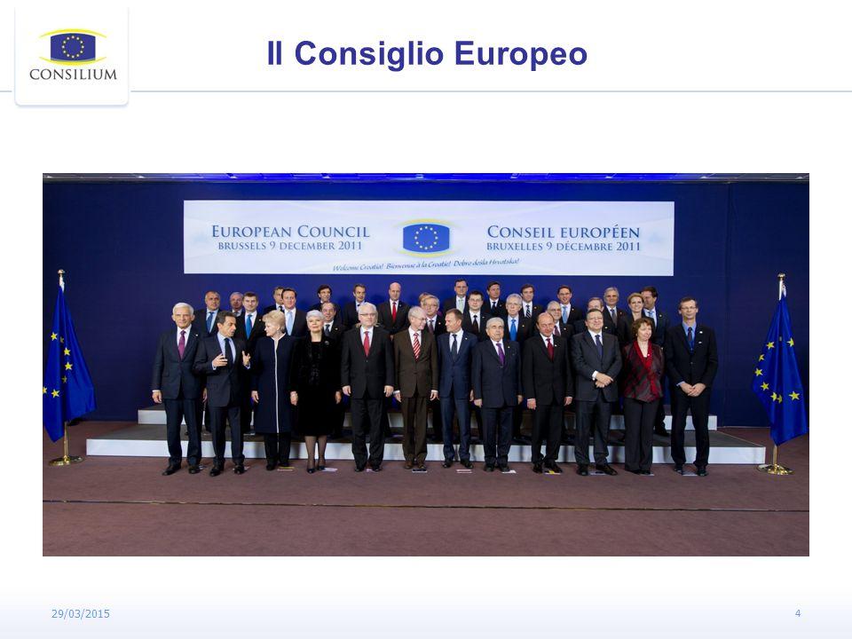 29/03/2015 4 Il Consiglio Europeo