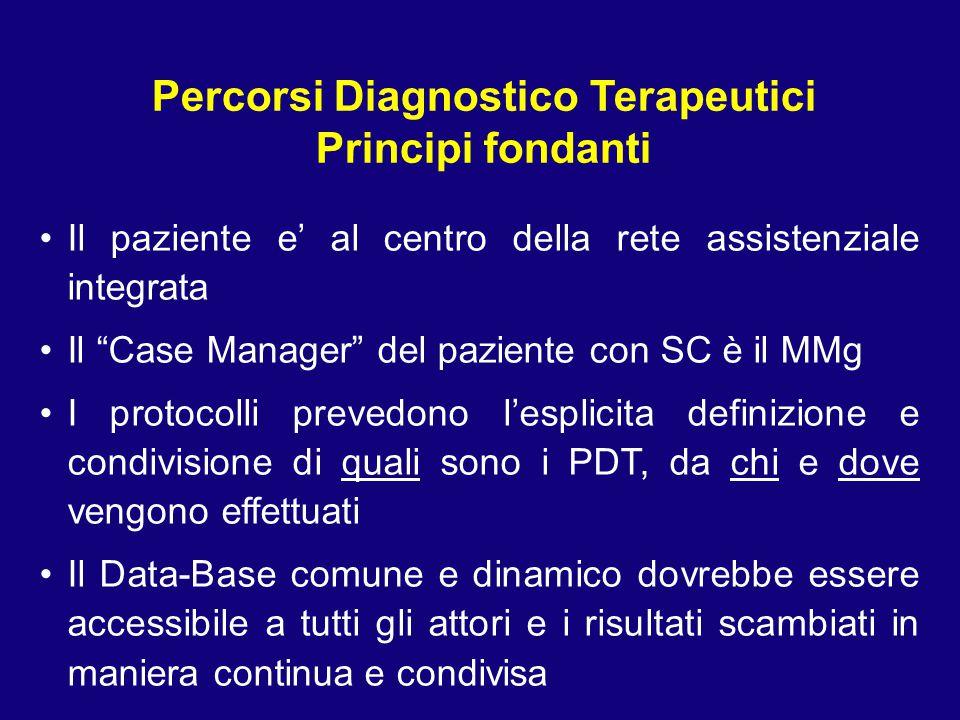 """Il paziente e' al centro della rete assistenziale integrata Il """"Case Manager"""" del paziente con SC è il MMg I protocolli prevedono l'esplicita definizi"""