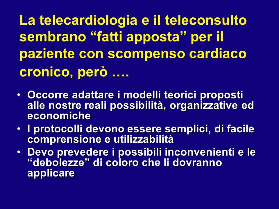 """La telecardiologia e il teleconsulto sembrano """"fatti apposta"""" per il paziente con scompenso cardiaco cronico, però …. Occorre adattare i modelli teori"""