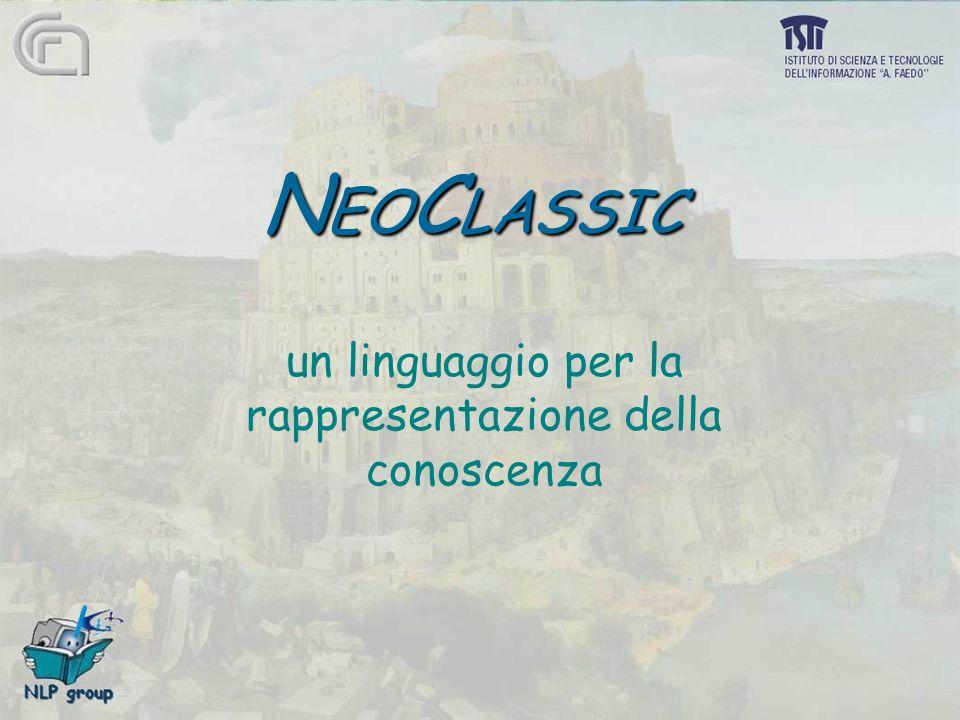 N EO C LASSIC un linguaggio per la rappresentazione della conoscenza