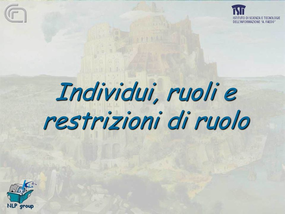 Individui, ruoli e restrizioni di ruolo