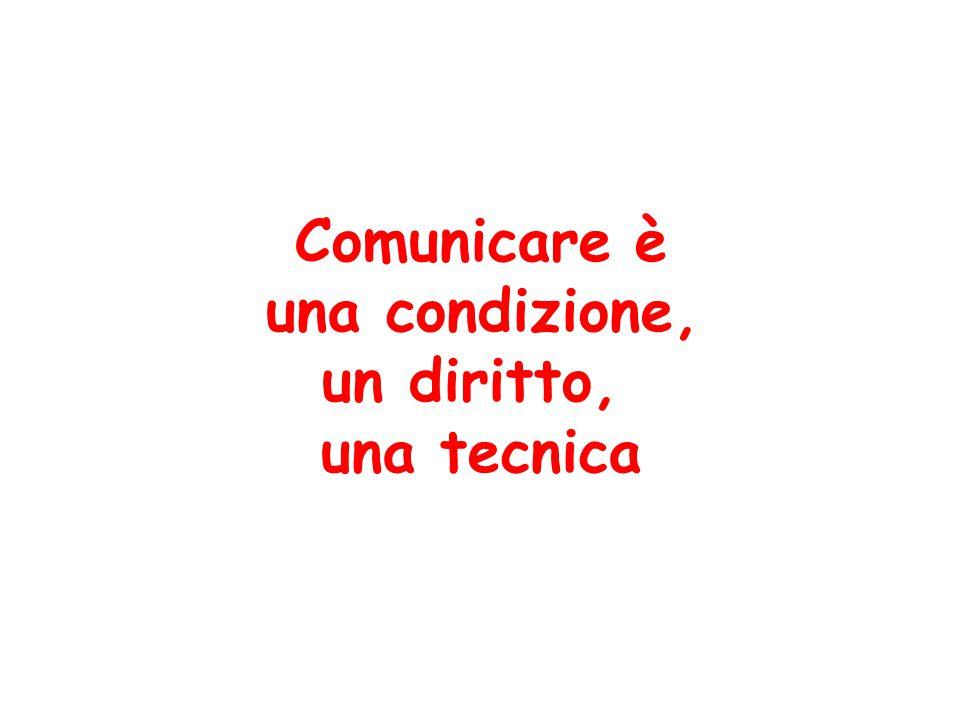 Comunicare è una condizione, un diritto, una tecnica