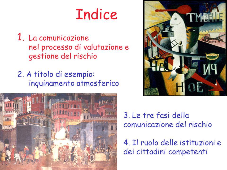 Indice 1. La comunicazione nel processo di valutazione e gestione del rischio 2.