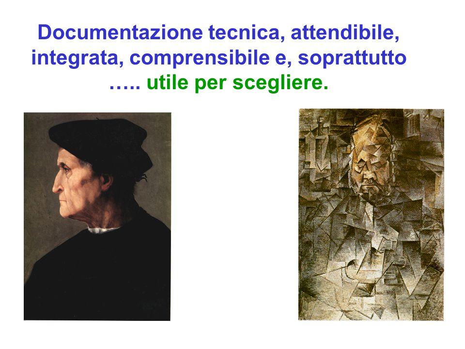 Documentazione tecnica, attendibile, integrata, comprensibile e, soprattutto …..