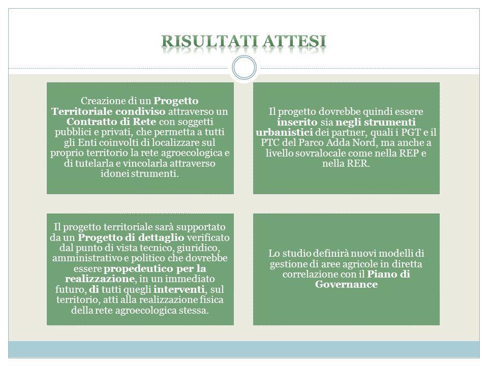 Creazione di un Progetto Territoriale condiviso attraverso un Contratto di Rete con soggetti pubblici e privati, che permetta a tutti gli Enti coinvol