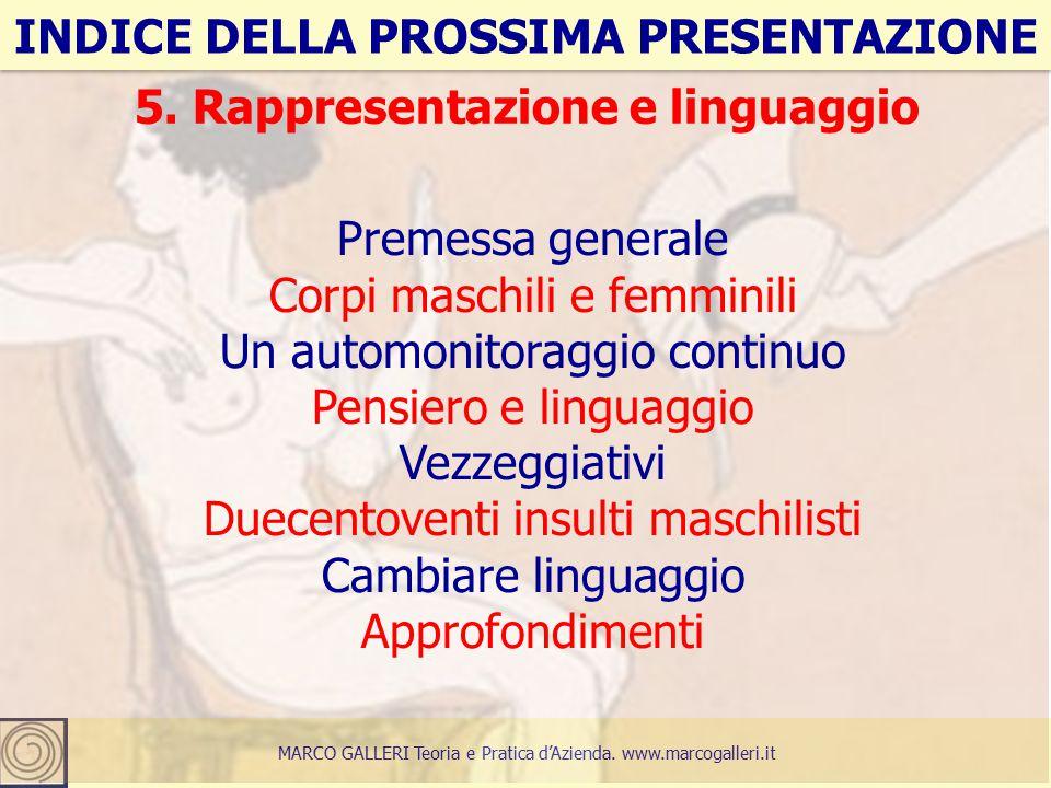 26 INDICE DELLA PROSSIMA PRESENTAZIONE MARCO GALLERI Teoria e Pratica d'Azienda.