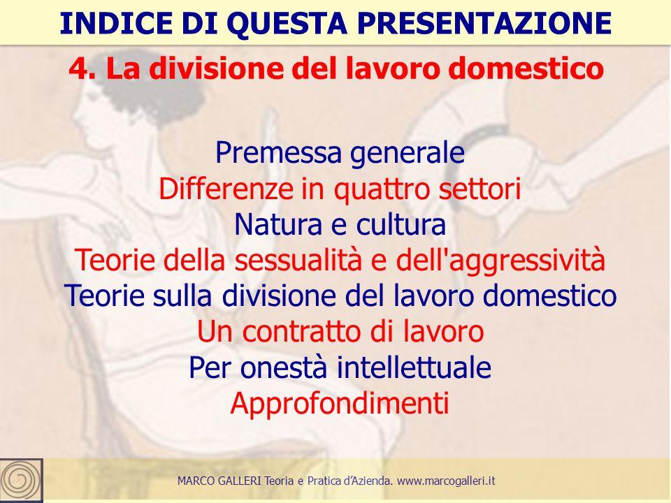 3 INDICE DI QUESTA PRESENTAZIONE MARCO GALLERI Teoria e Pratica d'Azienda.