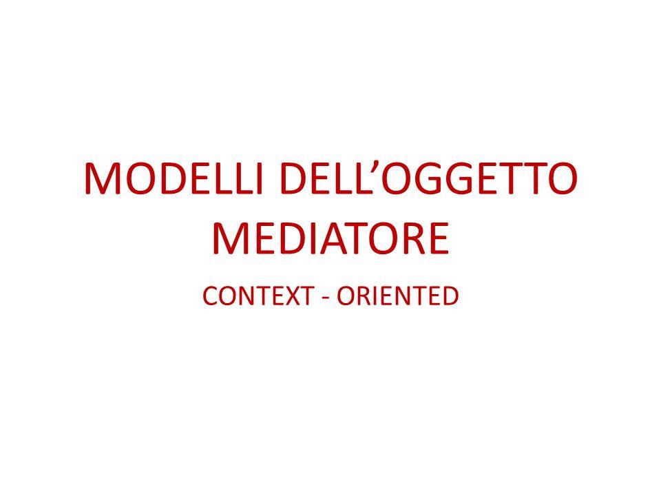 MODELLI DELL'OGGETTO MEDIATORE CONTEXT - ORIENTED