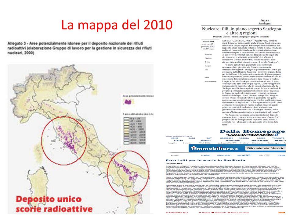 La mappa del 2010