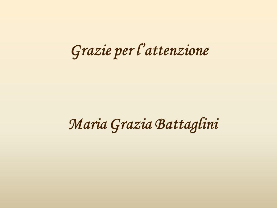 Grazie per l'attenzione Maria Grazia Battaglini