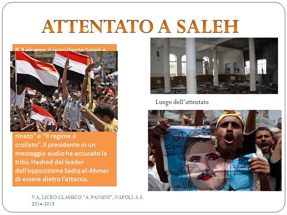 Il 3 giugno il presidente Saleh è vittima di un attentato in una moschea.