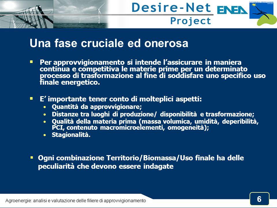7 Le biomasse residuali in Italia, 2006 Residui e scarti agricoli Atlante italiano Biomasse, ENEA, 2008 Biogas da allevamenti bovini Agroenergie: analisi e valutazione delle filiere di approvvigionamento