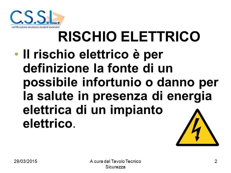 2 Il rischio elettrico è per definizione la fonte di un possibile infortunio o danno per la salute in presenza di energia elettrica di un impianto elettrico.